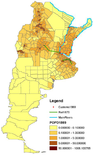External Integration And Development Evidence From Argentina - Argentina density map