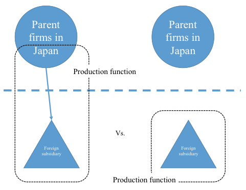 Parent firms' resources and productivity of foreign