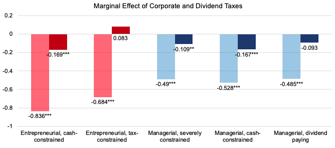The heterogeneous tax sensitivity of firm-level investments