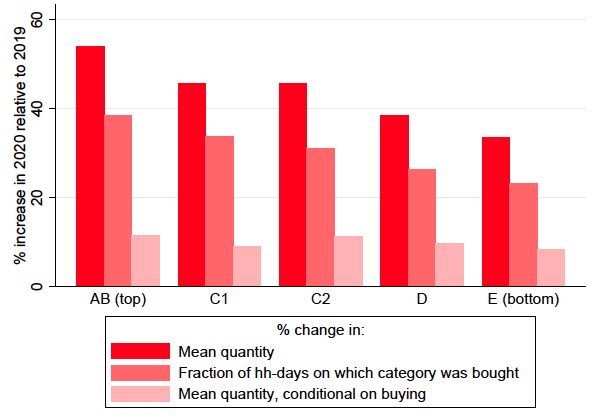 Spending dynamics and panic buying during the COVID-19 first wave 5