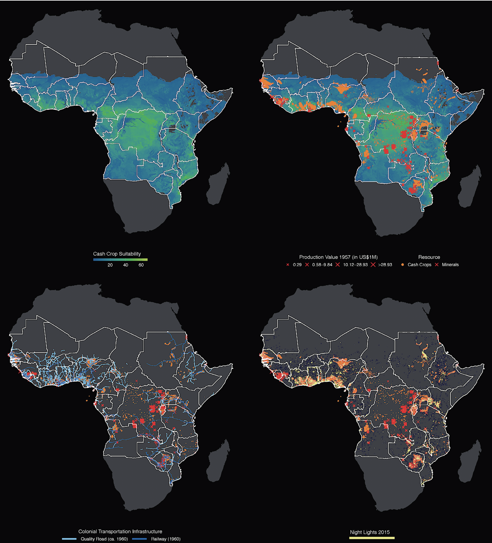 Extractive colonial economies and legacies of spatial inequality 1
