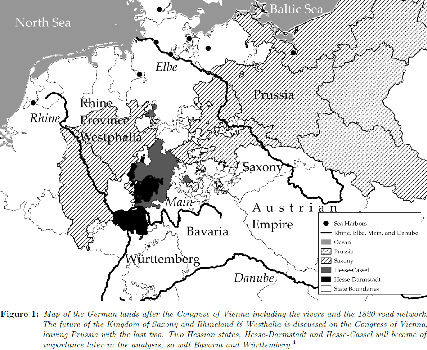Map Of Zollverein Germany.How Britain Unified Germany Endogenous Trade Costs And The
